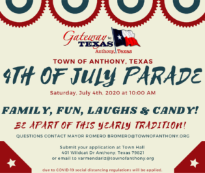 4th of July Parade Registration Form